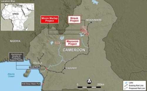 XNUMX in Mines Cameroun selon Canyon Resources Minim Martap pourrait devenir lun des gisements de bauxite les plus importants au monde