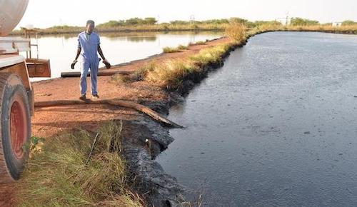 rivière polluée