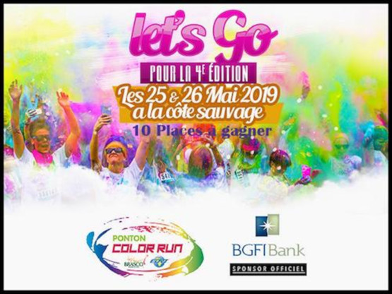 36561 in Comm BGFIBank Congo sponsor de la course Ponton Color Run dition 2019