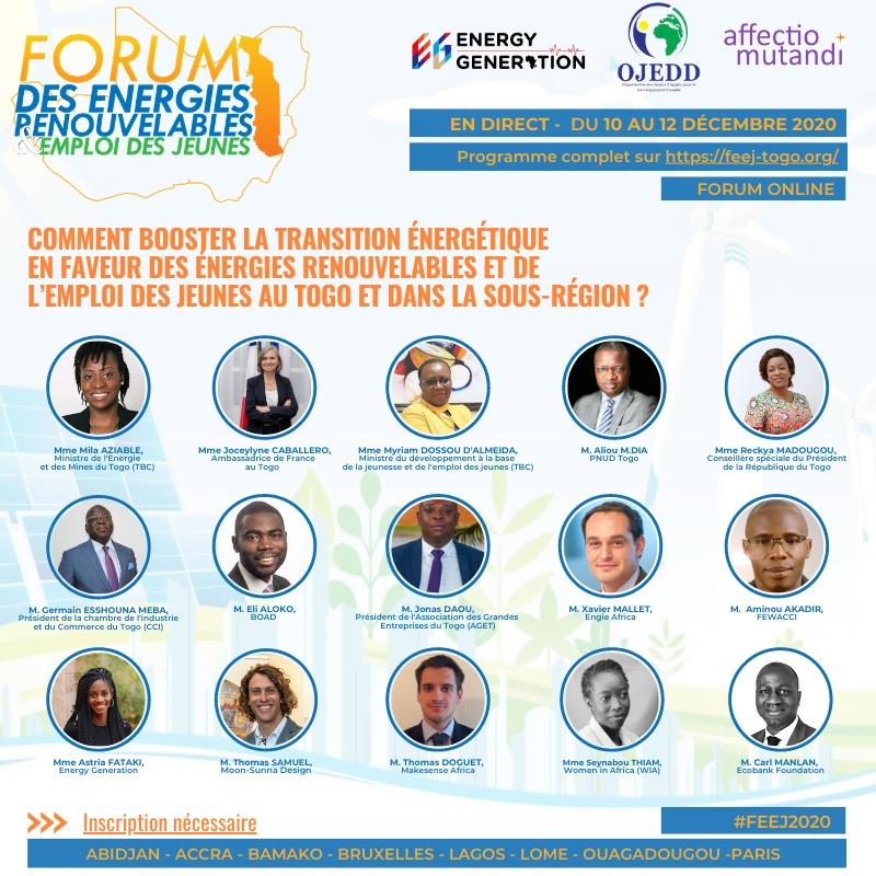 33780 cp forum enr 122020  - 33780 cp forum enr 122020 - Un forum online sur les énergies renouvelables et l'emploi au Togo et en Afrique de l'Ouest du 10 au 12 décembre 2020