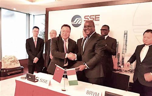 Accord de partenariat entre la BRVM et la bourse de Shangaï