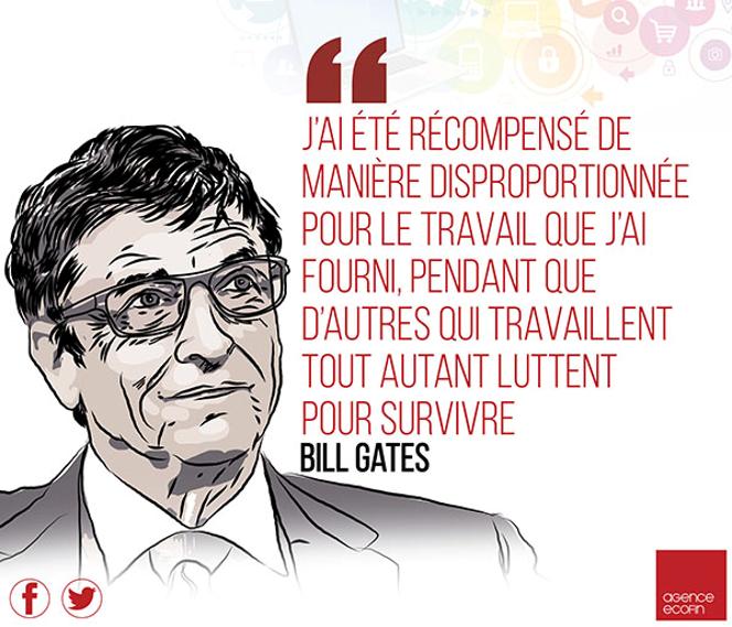 Le milliardaire américain Bill Gates trouve sa richesse injuste