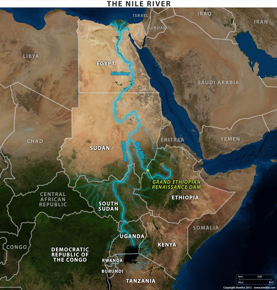 Carte Nile River