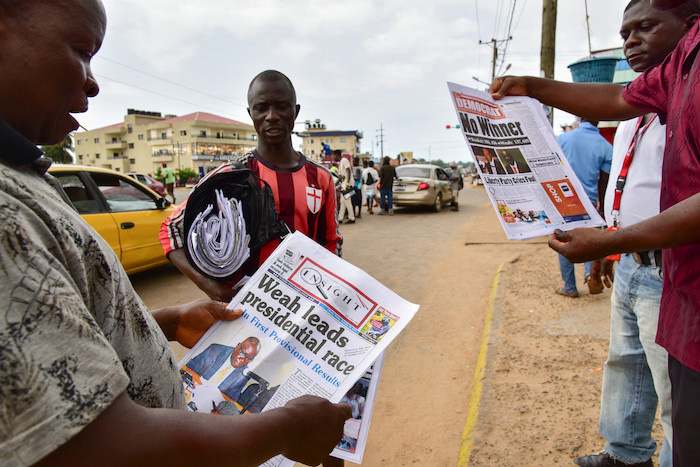 vendeur journaux Monrovia