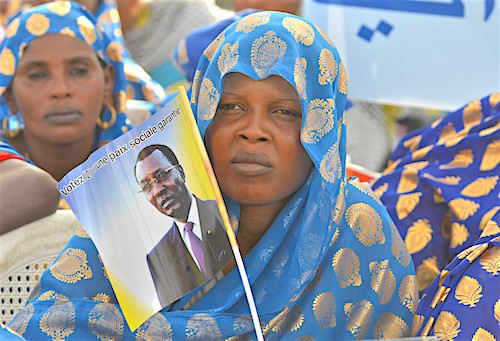 Des partisans president sortant Idriss Deby lors meeting electoral 8 avril 2016 Ndjamena 51400953
