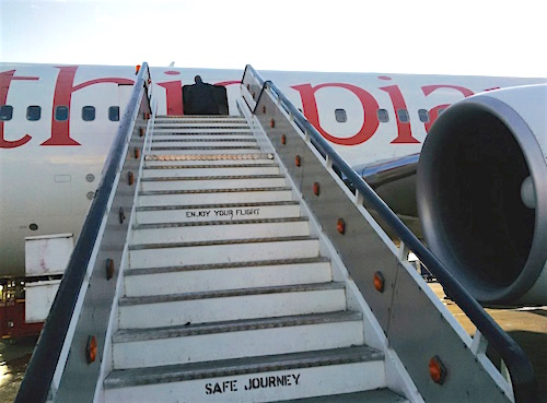 stairs Ethiopian Airlines