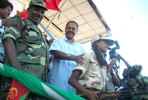 Isaias Afwerki with his daughter at Sawa