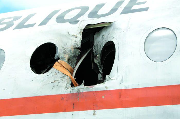 Fokker 100 le 29 juin 2007 à Bouaké