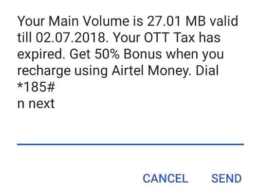 airtel ott tax expired