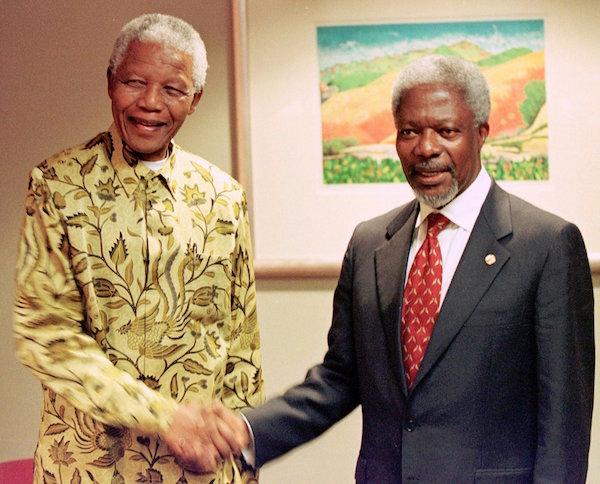kofi annan Mandela