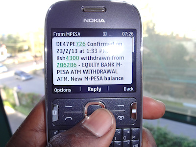 M PESA ATM Withdrawal