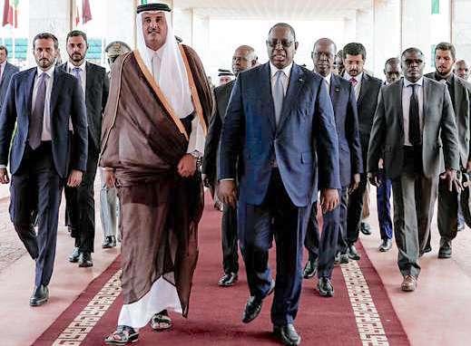 Emir du Qatar macky Sall