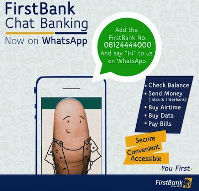 FBN whatsapp Banking