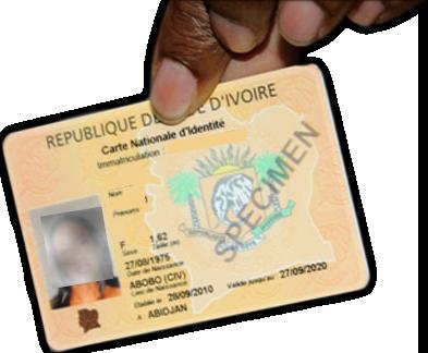 Impossible de sortir de l'informel sans carte d'identité.