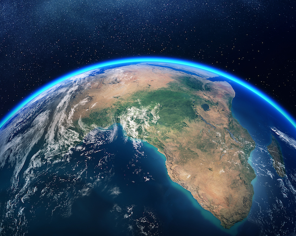 3Africa Earth viewed
