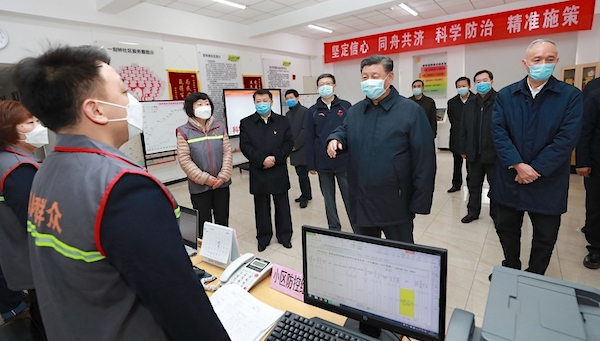 1xi jinping has warned that efforts to contain the coronavirus can hurt the economy