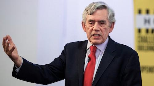 1Gordon Brown ancien premier ministre de Grande Bretagne